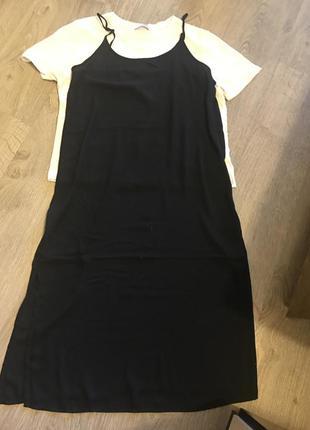 Очень стильное шифоновое платье в бельевом стиле !4 фото
