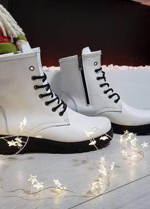Кожаные ботинки берцы зимние и демисезонные
