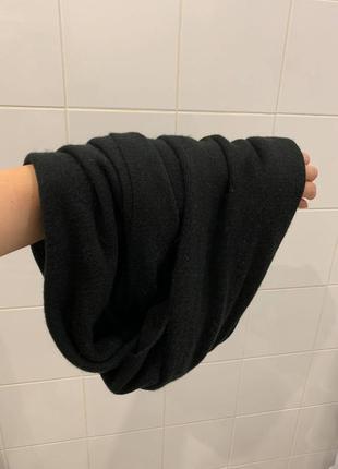 Чёрный тёплый шарф  (снуд ) pieces