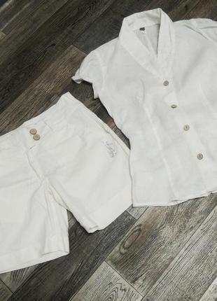 Костюм блузка и шорты, размер s/m