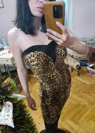 Вечернее/коктельное платье byblos, леопардовое