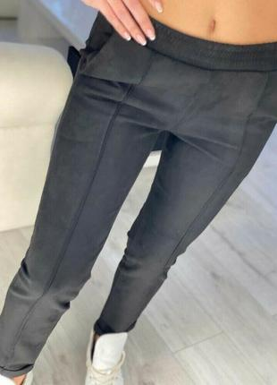 С 42 по 58 р -3 цвет -укороченные брюки замша посадка безупречная