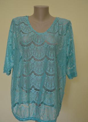 Супер красивая кружевная блуза новая