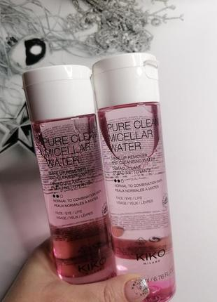 Pure clean micellar water мицеллярная вода kiko milano