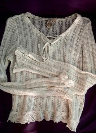 Блуза  h&m с рюшами