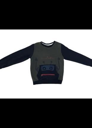 Кофта реглан свитер для мальчика робот topolino размер 116