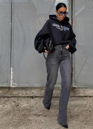 Широкие прямые джинсы wide leg zara