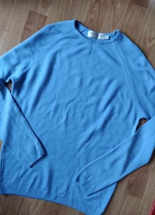 Мягкий шерстяной свитер джемпер полувер