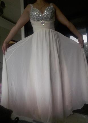 Свадебное вечернее выпускное платье айвори
