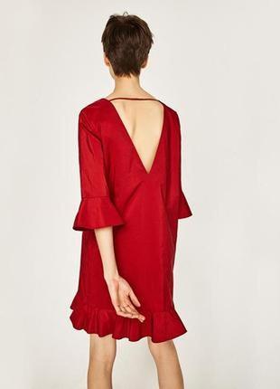 Шикарное платье zara красное