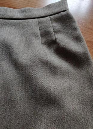 Шерстяная юбка миди