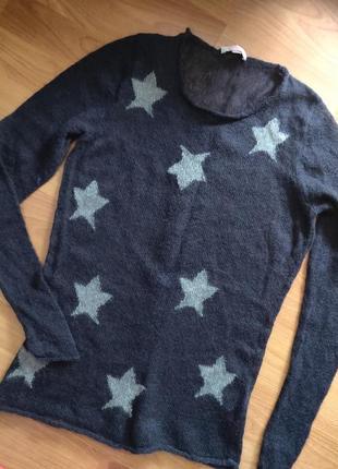Мохеровый свитер джемпер полувер