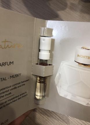 Пробник парфюмированной воды montblanc