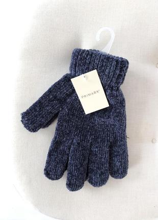 Новые перчатки 💙синель велюр размер м тянется !
