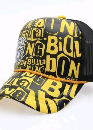 Кепка тракер billa bong с сеточкой, унисекс желтый