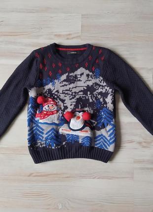 Новогодняя рождественская кофта свитшот свитер от george