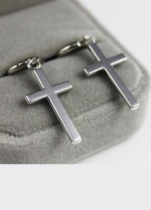 Крутая серьга в стиле рок готика крест серьги сережки