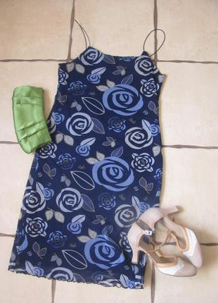 Летнее платье с ярким рисунком
