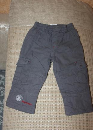Теплые штаны на синтепоне мальчику 2 года