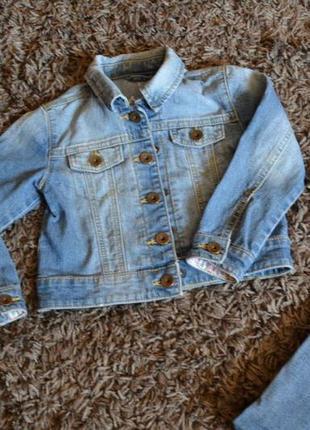 Джинсова курточка для дівчинки
