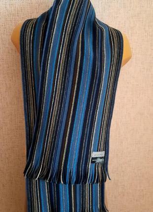 Классический мужской шарф john lewis шерсть германия2 фото