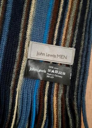 Классический мужской шарф john lewis шерсть германия3 фото
