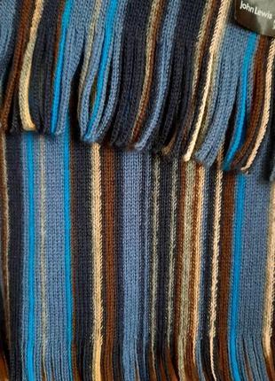 Классический мужской шарф john lewis шерсть германия4 фото