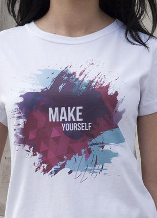 Ультрасовременная, трендовая, белая футболка с надписью. #футболка #ripestore