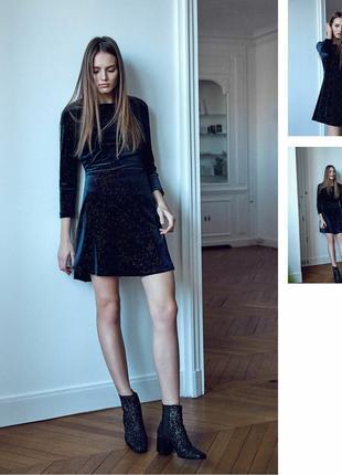 Оксамитова сукня zara