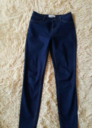 Джинсы, синi джинси, плотная такань, skinny