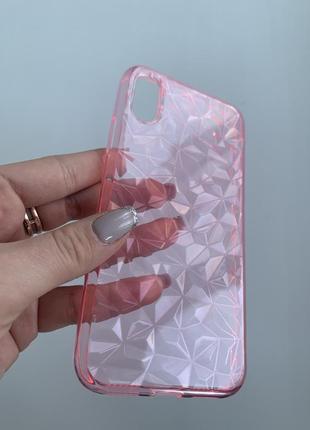 Красивый стильный силиконовый чехол бампер на айфон xs