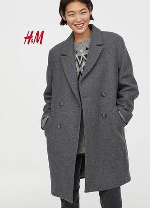 Крутое шерстяное пальто лимитированная коллекция h&m