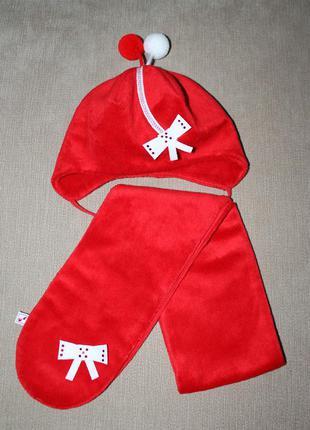 Шапочный набор (шапка+шарфик - р.44) cocсodrillo