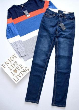 Темно-синие джинсы слимы из стрейч коттона esmara 10