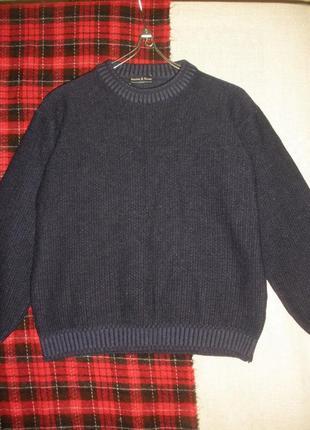 Практичный теплый шерсти мериноса свободный свитер джемпер burton & grant