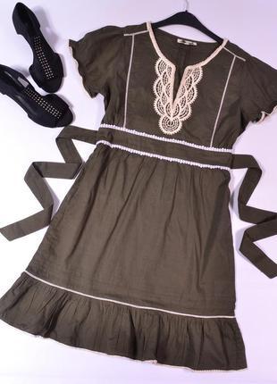 Платье с вышивкой oasis