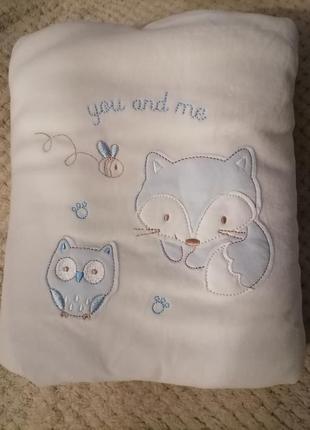 Подарочный плед пледик одеялко для кроватки коляски