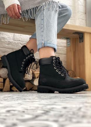 Ботинки женские timberland 6 inch black