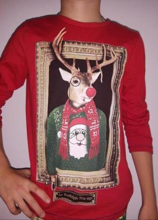 Новогодний рождественский реглан/ новорічна кофта