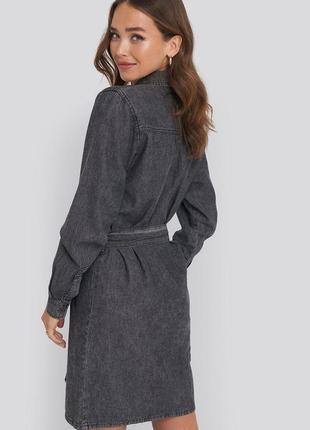 Платье рубашка джинсовое2 фото