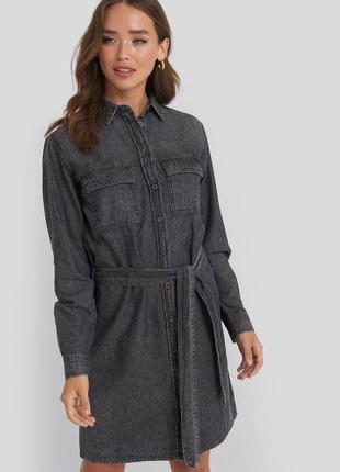 Платье рубашка джинсовое