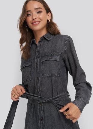 Платье рубашка джинсовое4 фото