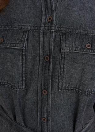 Платье рубашка джинсовое5 фото