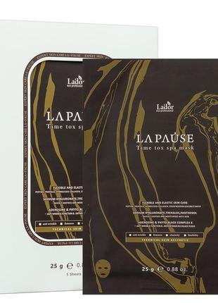Тканевая антивозрастная маска la'dor la-pause time tox spa mask