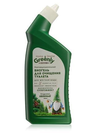 Биогель для очищения туалета многофункциональный «хвойный микс» home gnome greenly