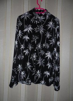 Мужская рубашка длинный рукав размер 40 //l  вискоза