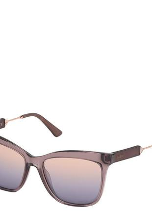 Очки женские солнцезащитные с зеркальными линзами guess pgu7620-83z55