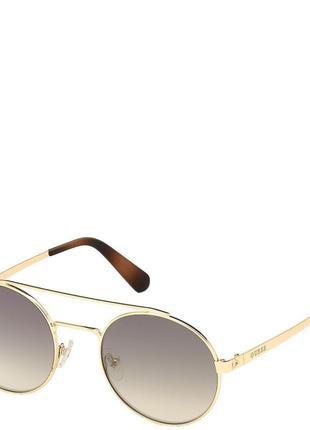Очки женские солнцезащитные с зеркальными градуированными линзами guess pgu6940-32p53