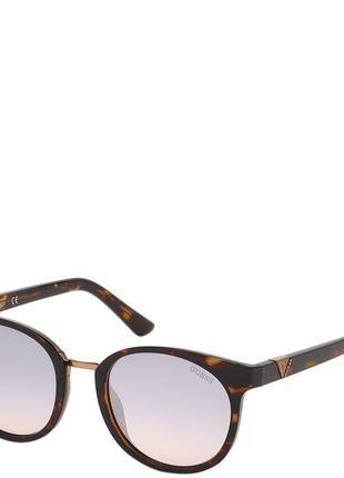 Очки женские солнцезащитные с градуированными зеркальными линзами guess pgu7601-52u52