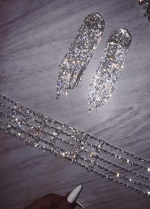 Роскошные серьги серебро люкс!!